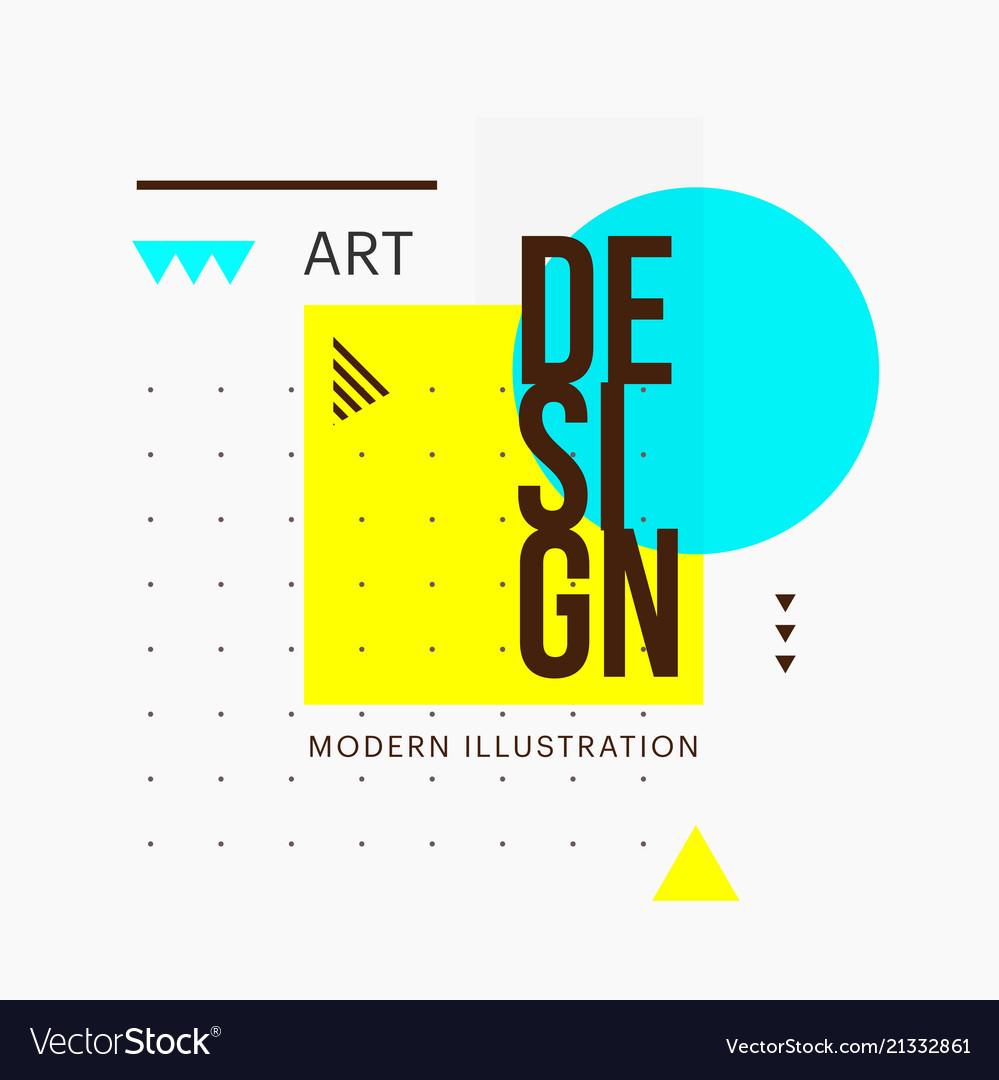 Trendy minimalistic geometric shape design