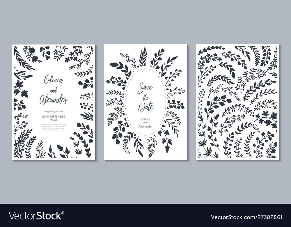 Wedding collection templates