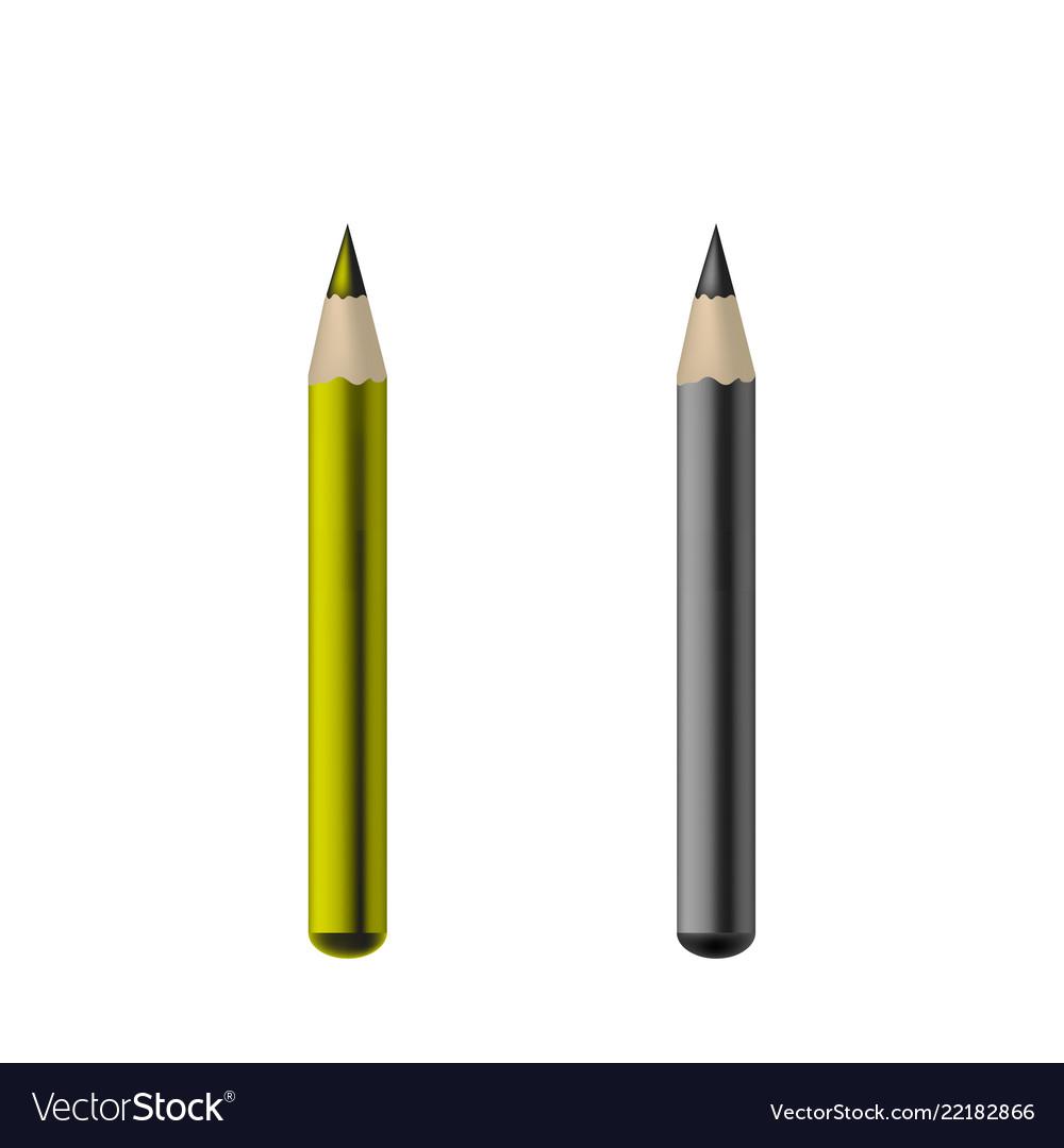 Cosmetic eye crayon - mock up template isolated on