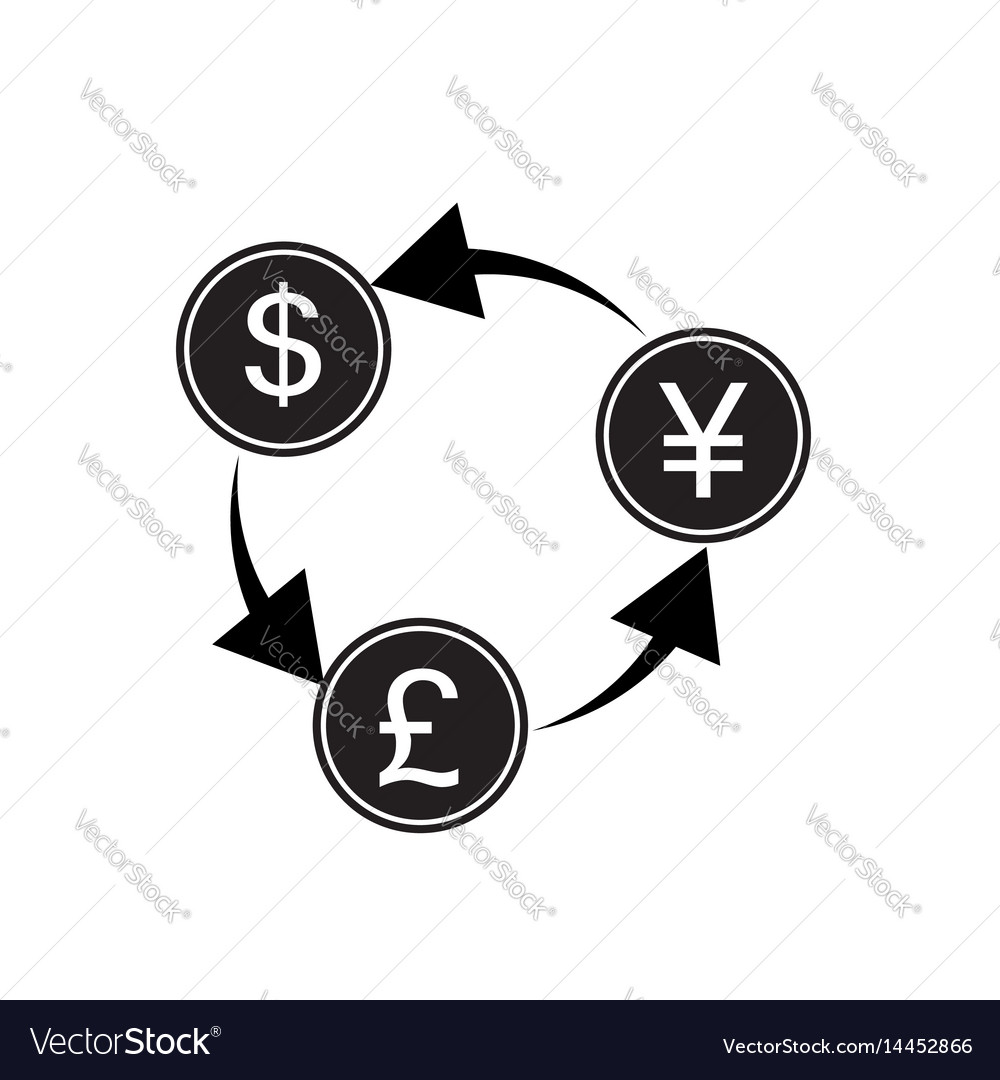 Exchange money on white background exchange money vector image