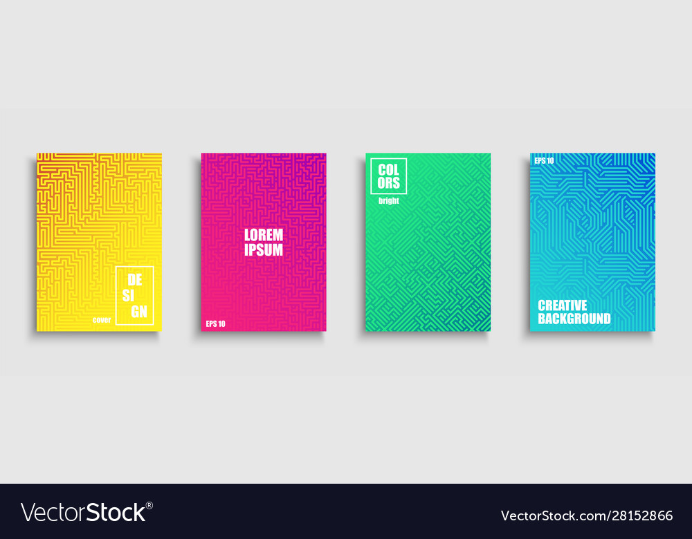 Gradient colorful digital covers templates