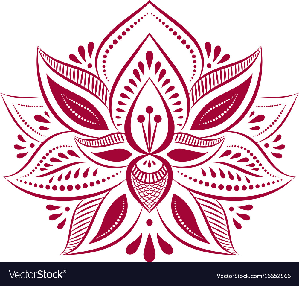 Mandalas Ethnic Style Decorative Lotus Flower Vector Image