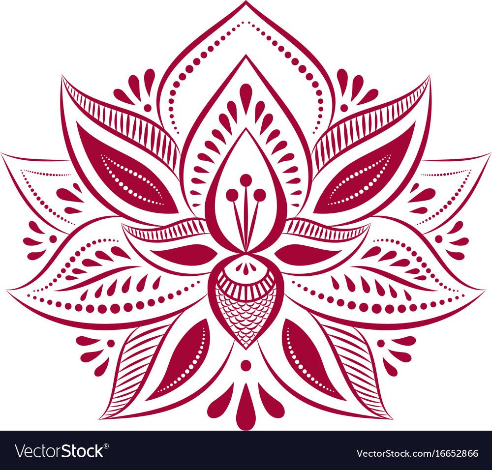 Mandalas ethnic style decorative lotus flower vector image izmirmasajfo