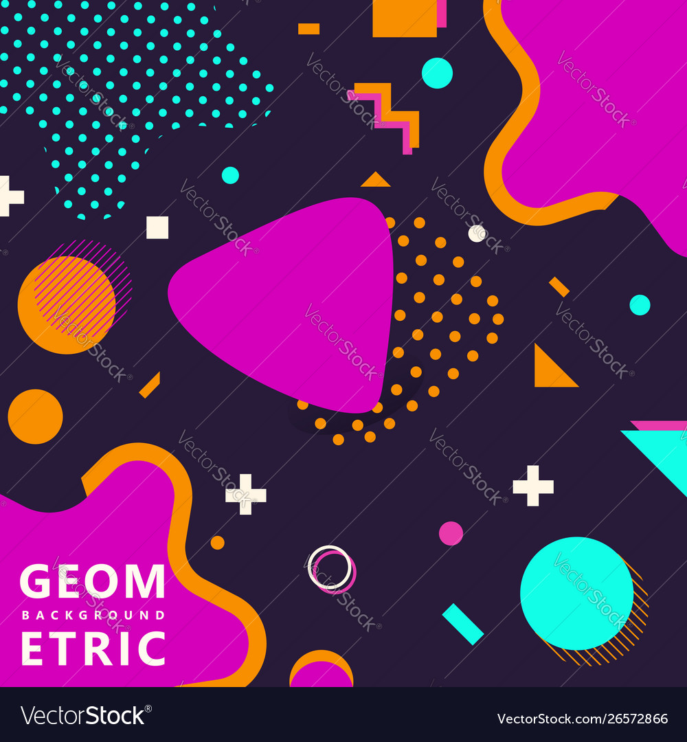 Trendy geometric shapes memphis hipster background