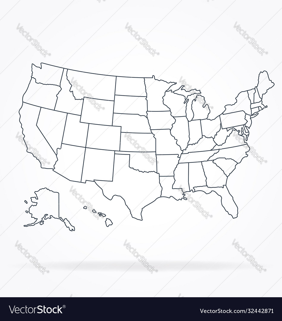 Accurate correct usa map linework