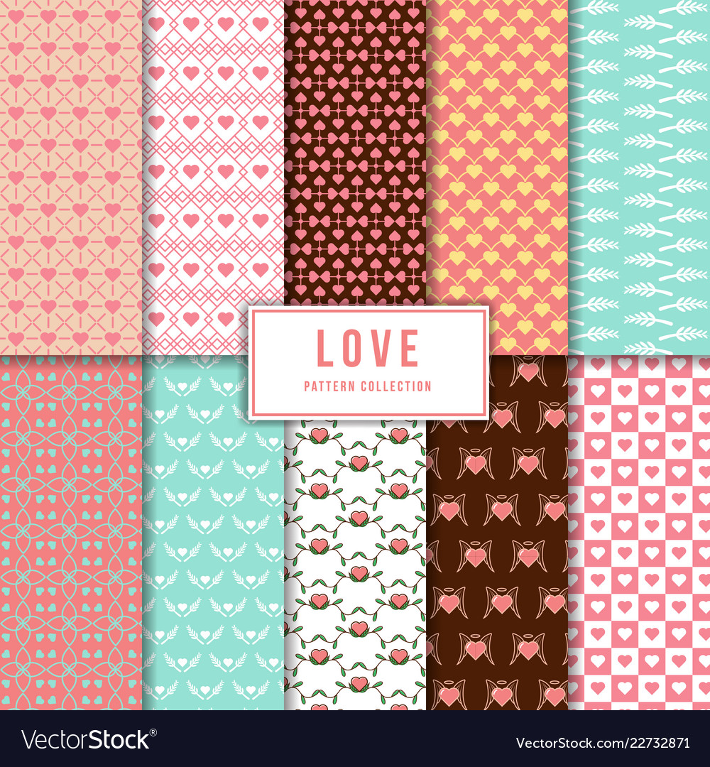 Beautiful love pattern collection