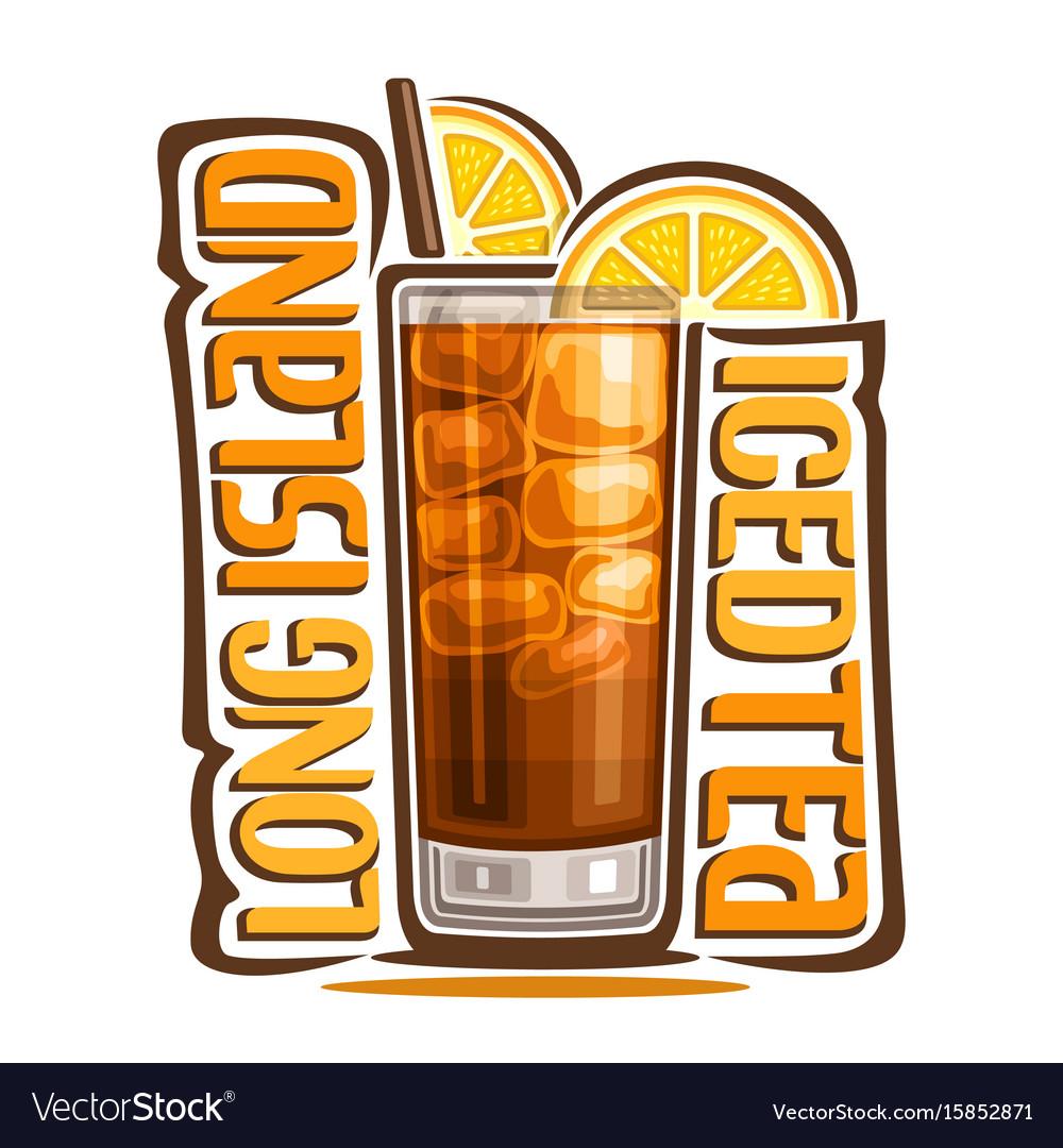 Cocktail long island iced tea vector image