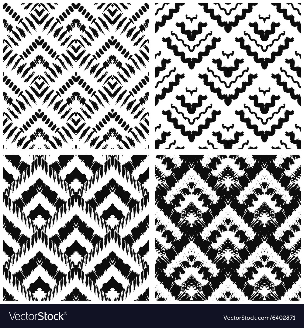 Hand drawn art deco painted seamless pattern