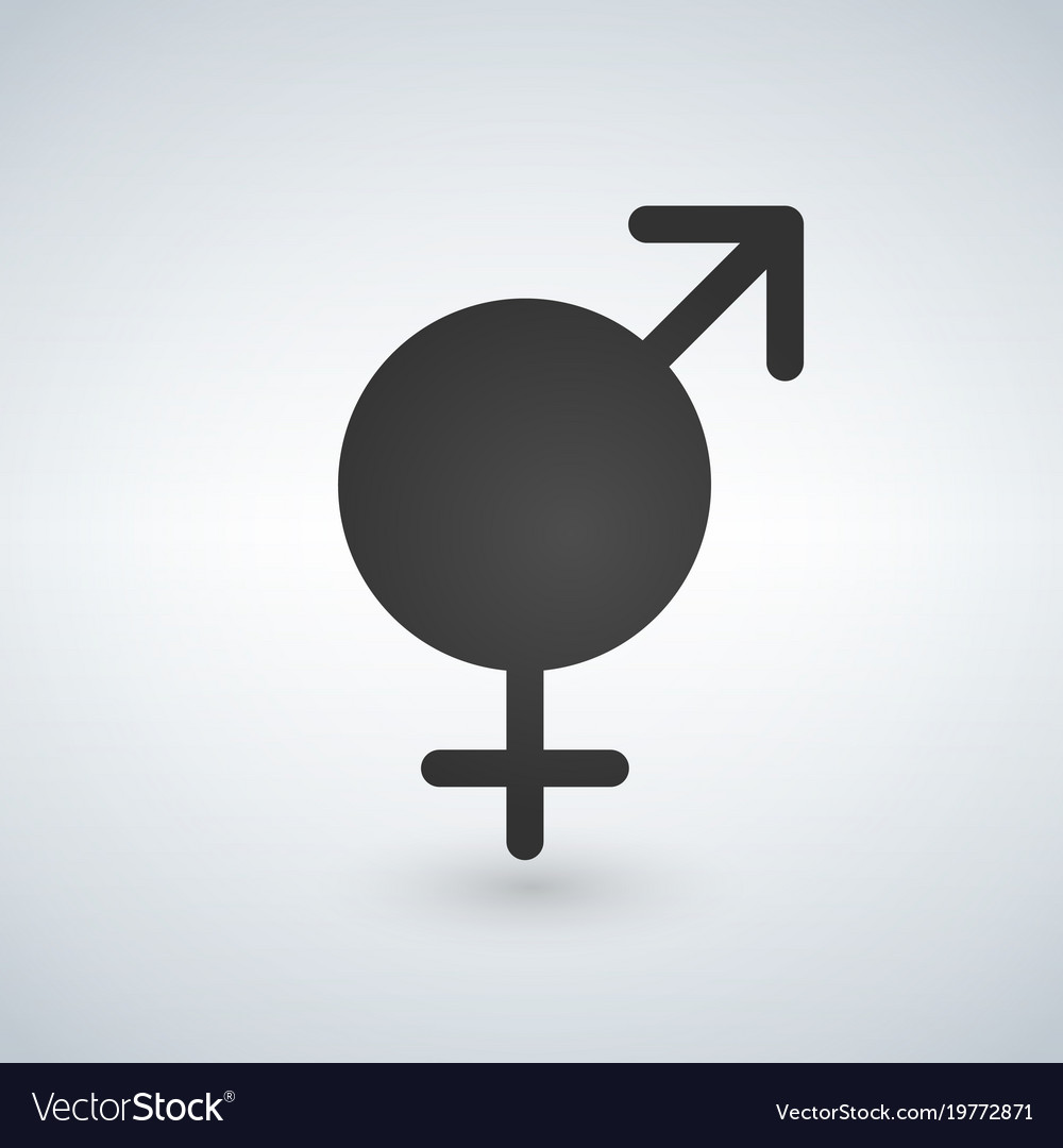 Male and female sex symbol black vector image