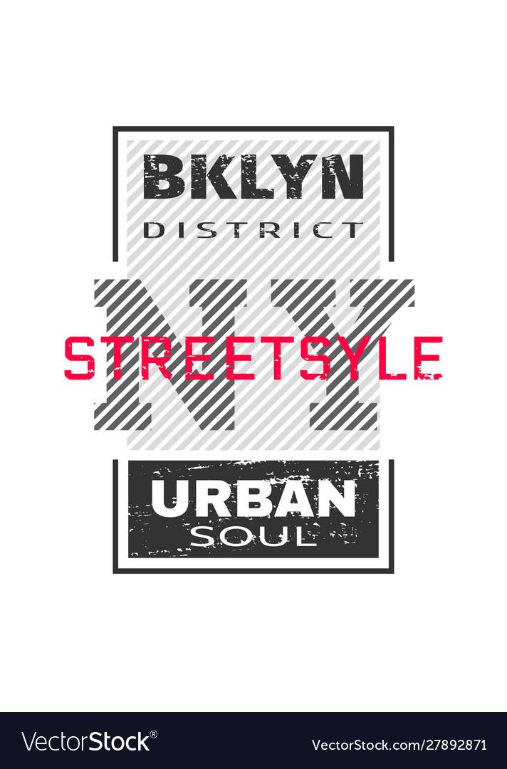 New york city brooklyn t-shirt graphics