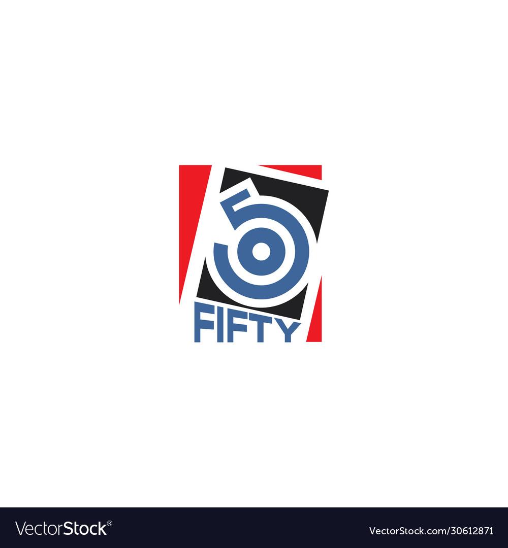 Number 50 logo design