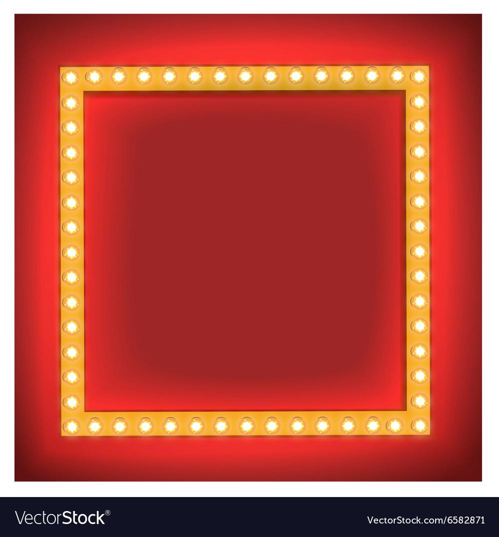 Retro shining frame Light bulb Royalty Free Vector Image
