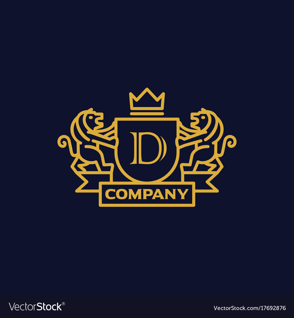 Coat of arms letter d company royalty free vector image coat of arms letter d company vector image altavistaventures Gallery