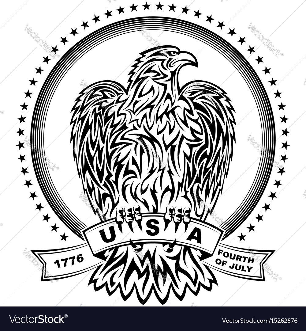Eagle natioal symbol usa fourth july emblem