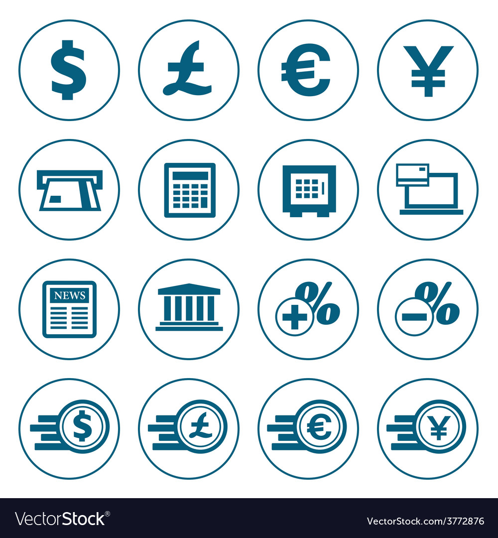Financial and money icons set