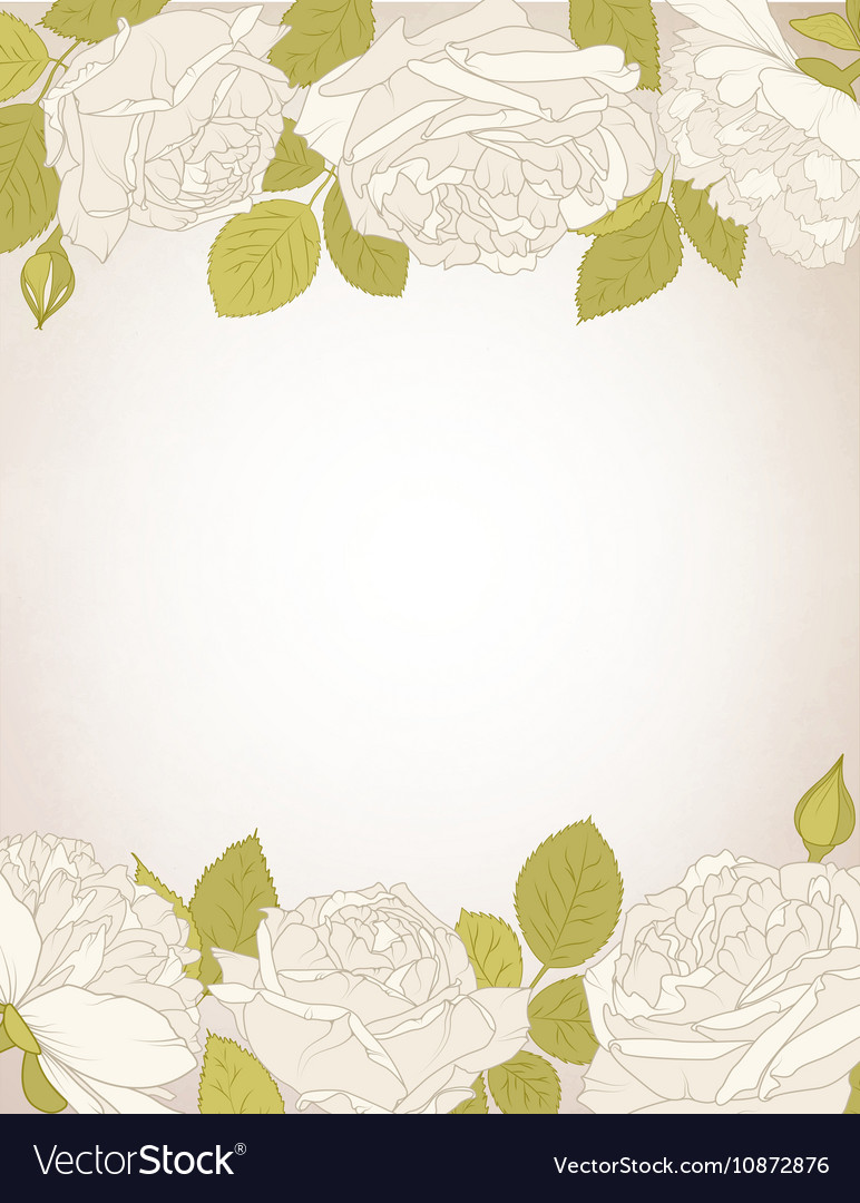 Rose flowers card template