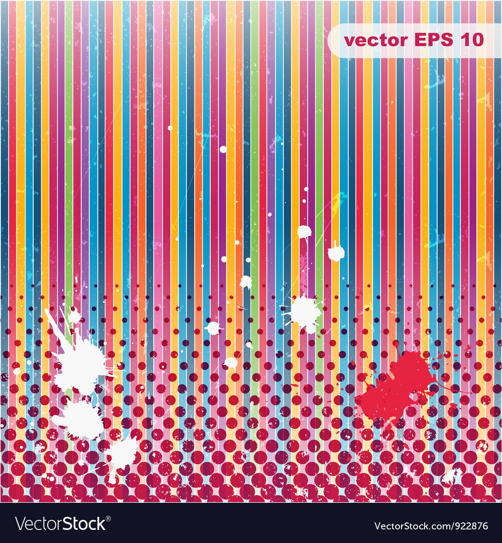 Striped Grunge background A vintage poster
