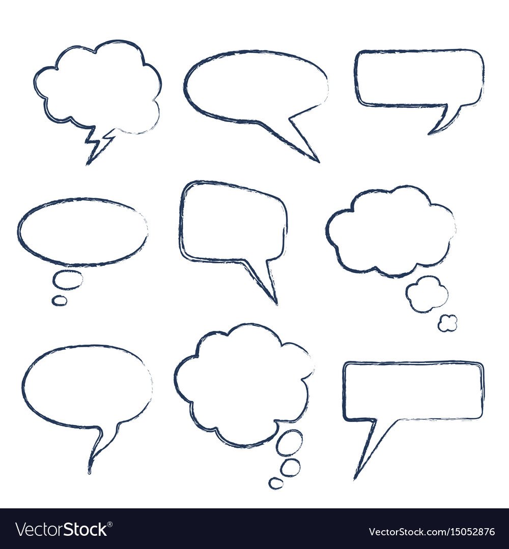 Text speech bubble vector image