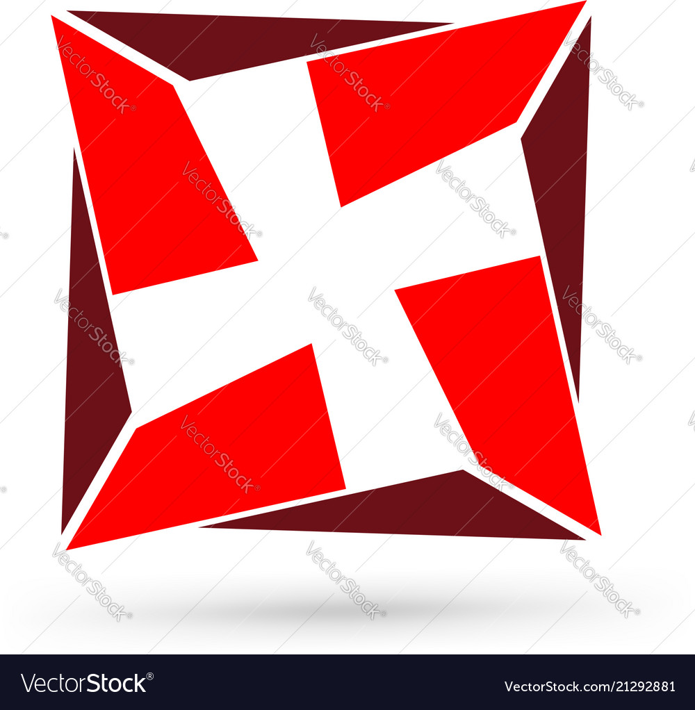 Abstract cross first aid medical sign icon