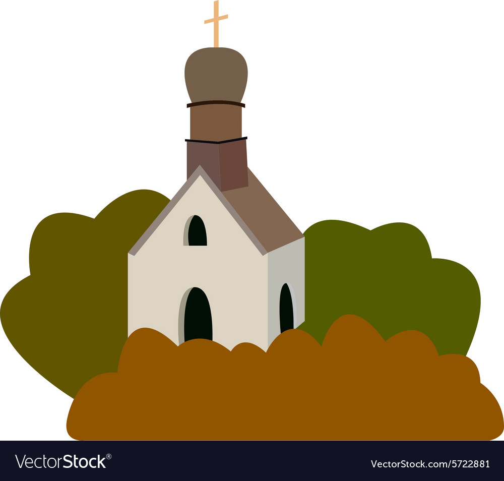 An old medieval church in a flat desi