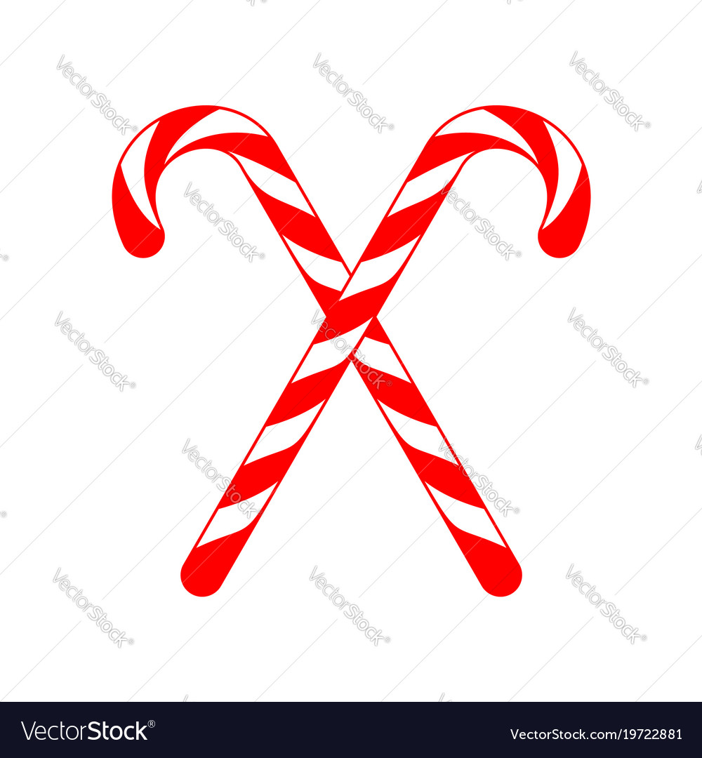 christmas candy cane cross vector image - Christmas Candy Cane