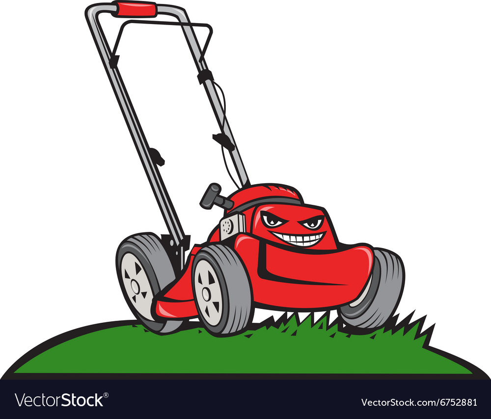 Lawnmower Front Isolated Cartoon Royalty Free Vector Image