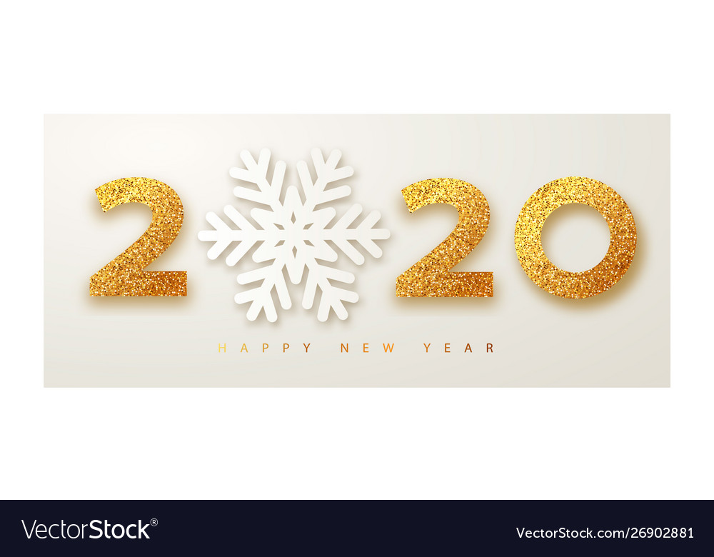 Christmas 2020 Banner Merry christmas and happy new year 2020 banner Vector Image