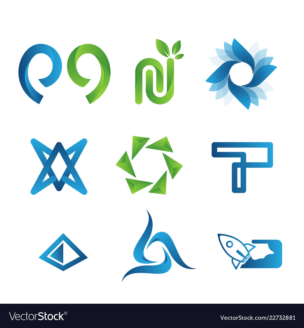 Modern logo collection vector