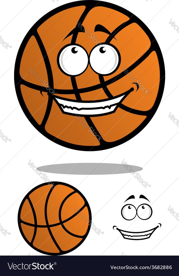 Cartoon classic orange basketball ball
