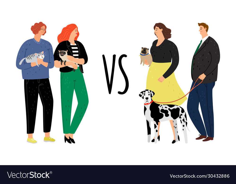 Cats versus dogs animal owners