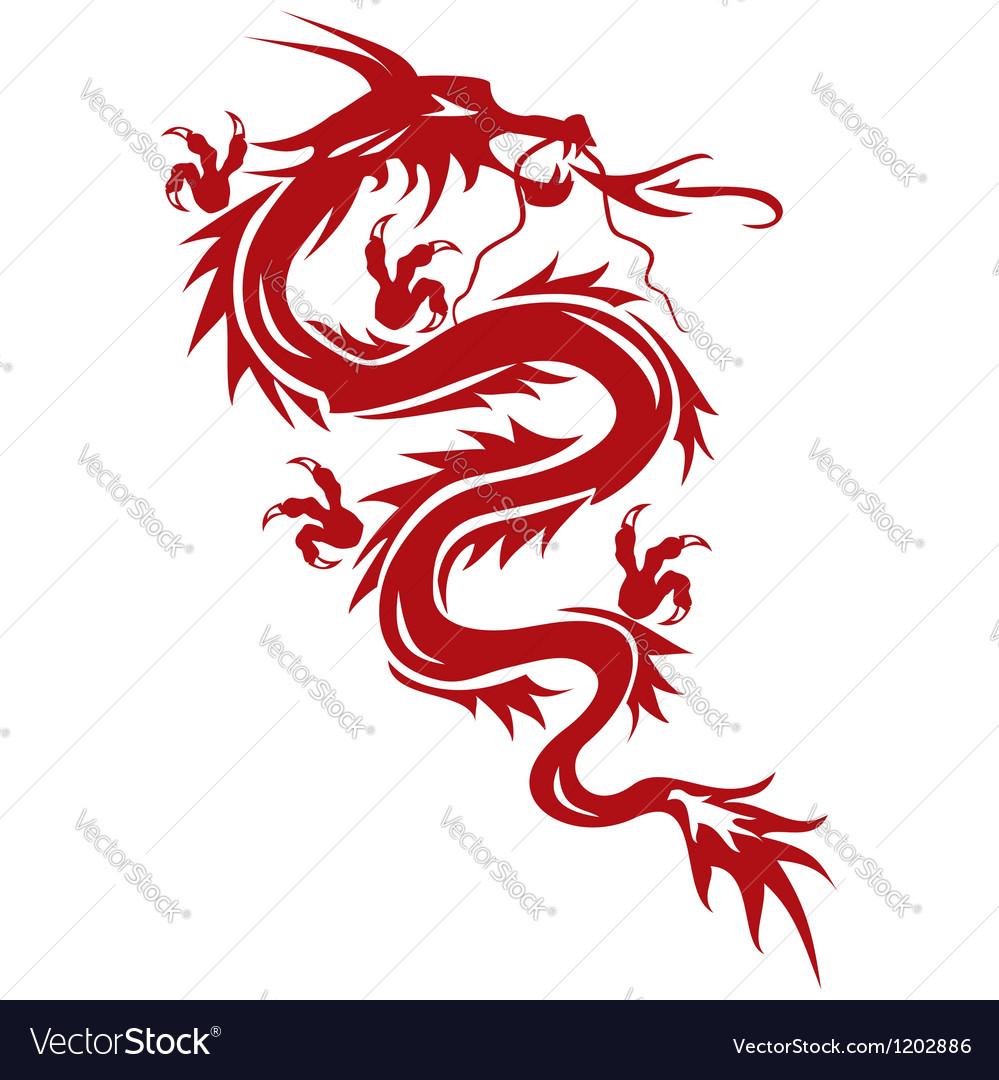 Dragon a symbol of oriental culture vector image