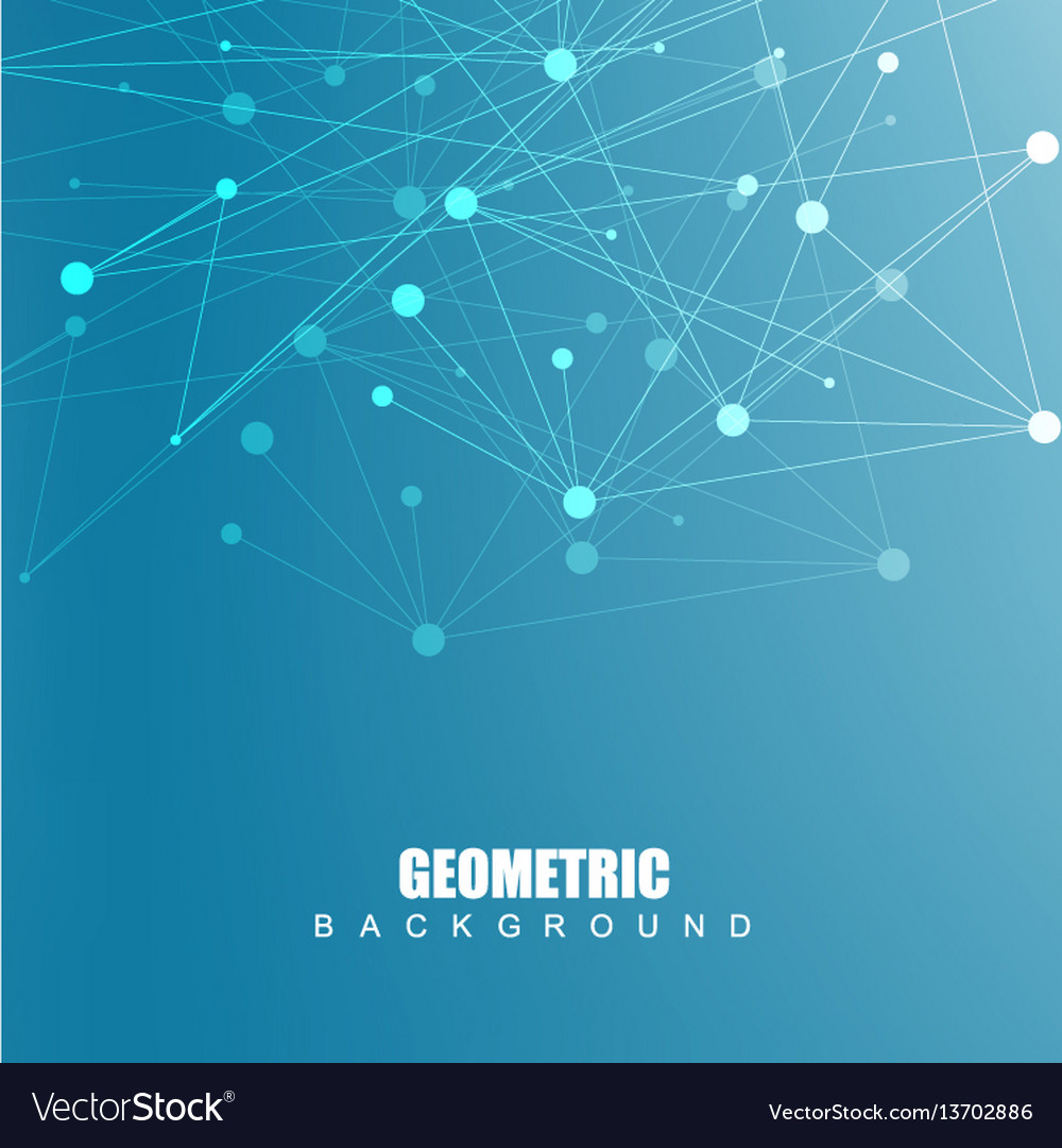 Geometric abstract background with connected line vector image