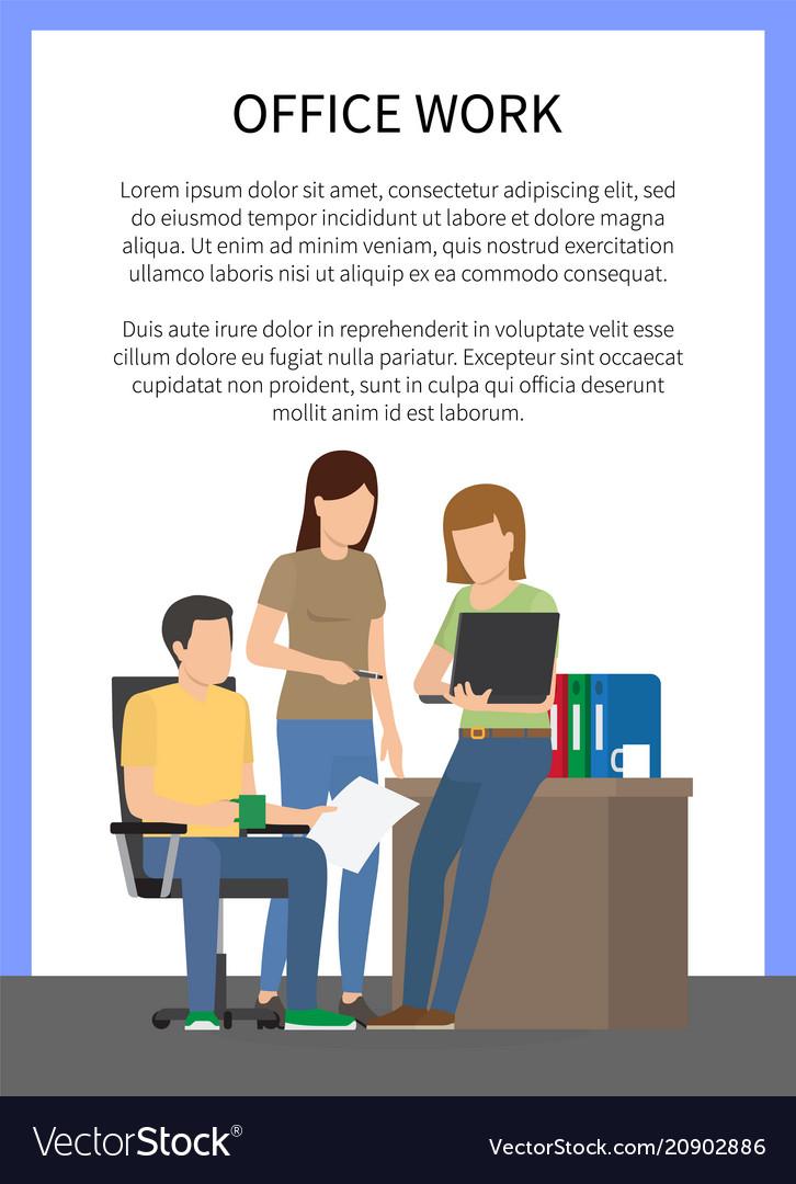 Office work people doing job