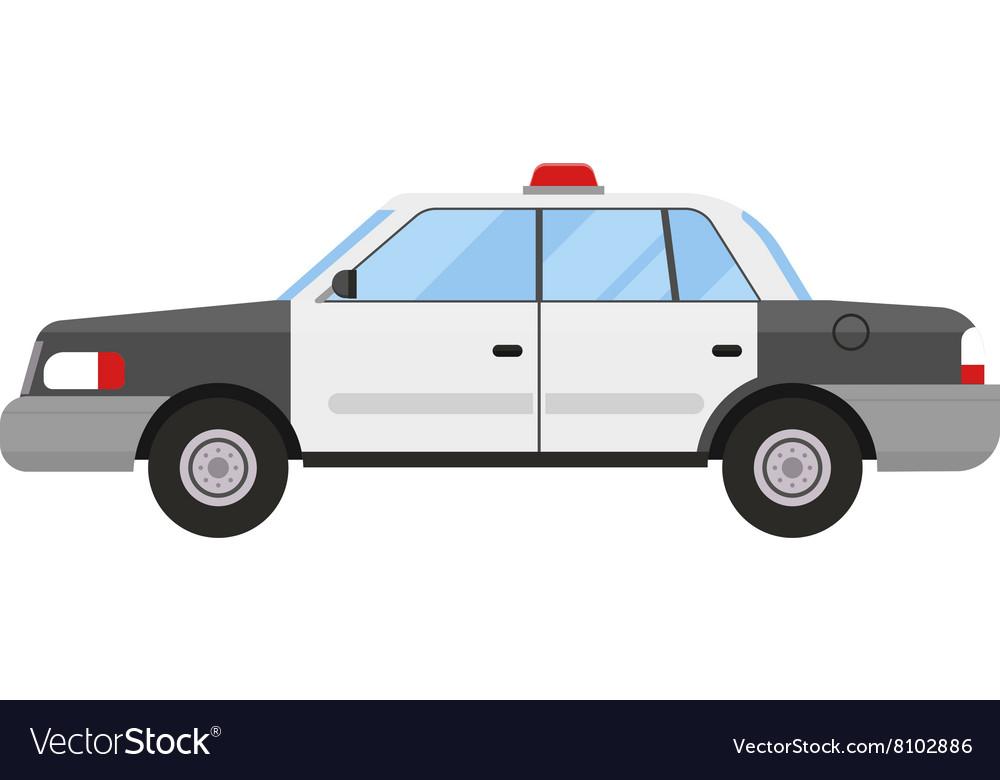 Police car sport modern style flat