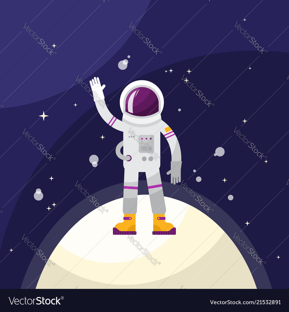 Astronaut in space on planet