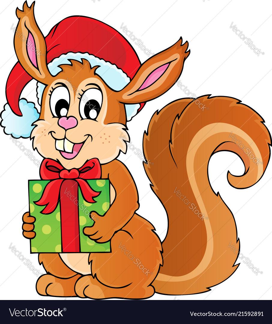 Christmas Squirrel.Christmas Theme Squirrel Image 1