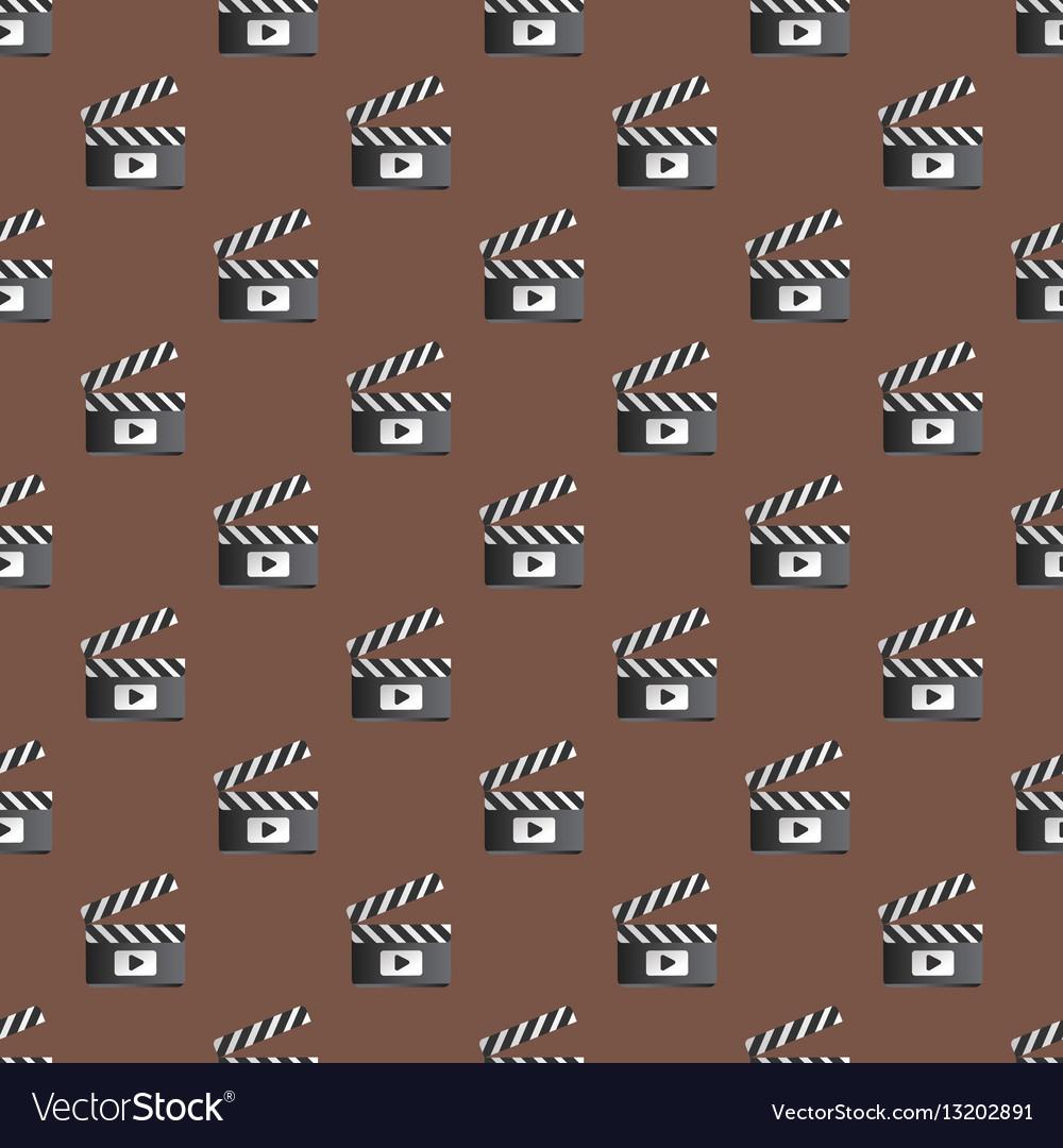 Clapper board seamless pattern