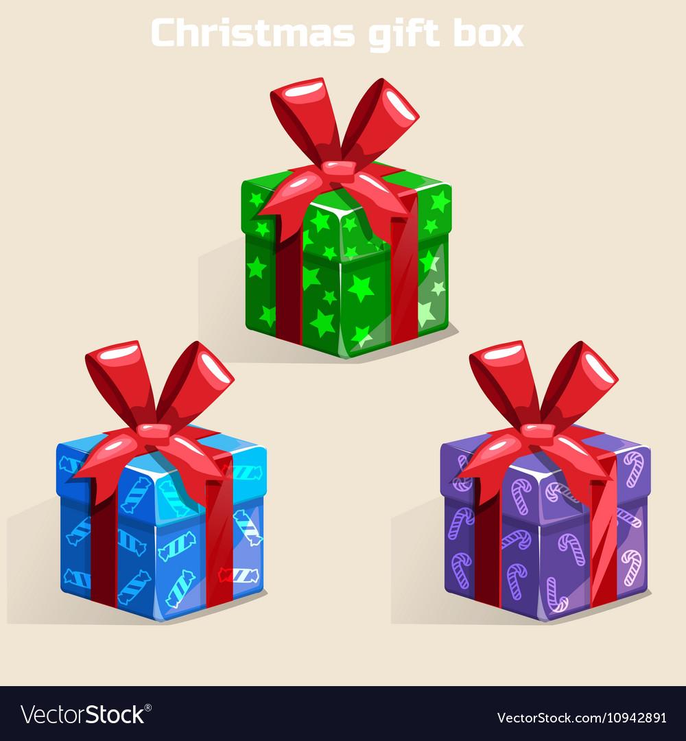 Christmas Gift Box.Colors Christmas Gift Box