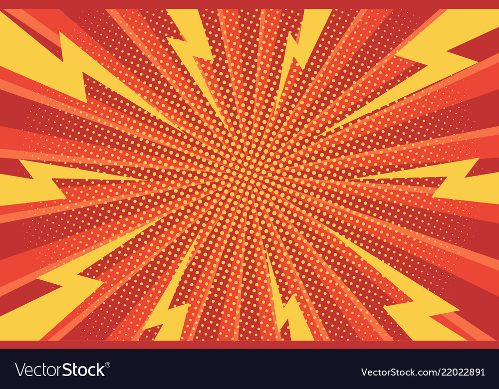 Comic abstract bright background
