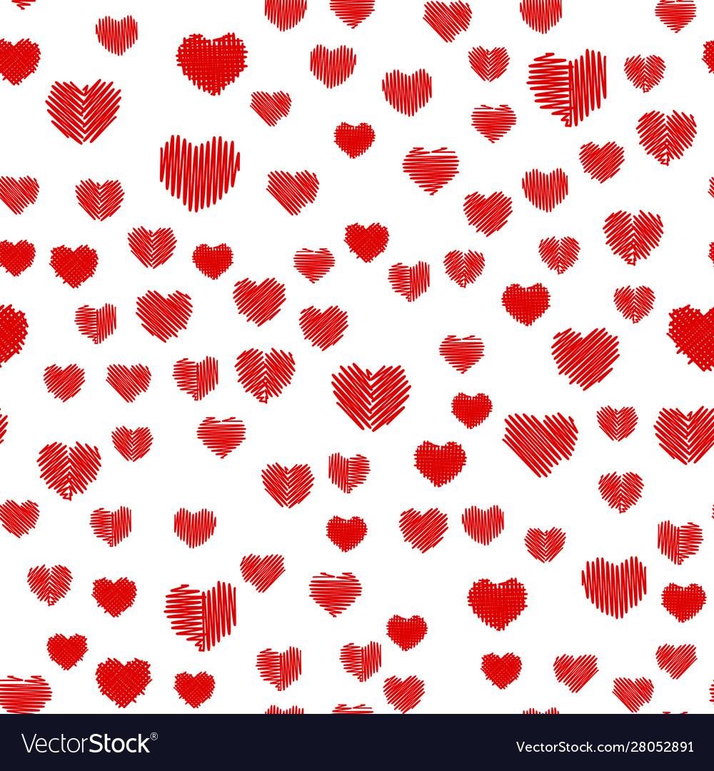 Crosshatching valentines seamless