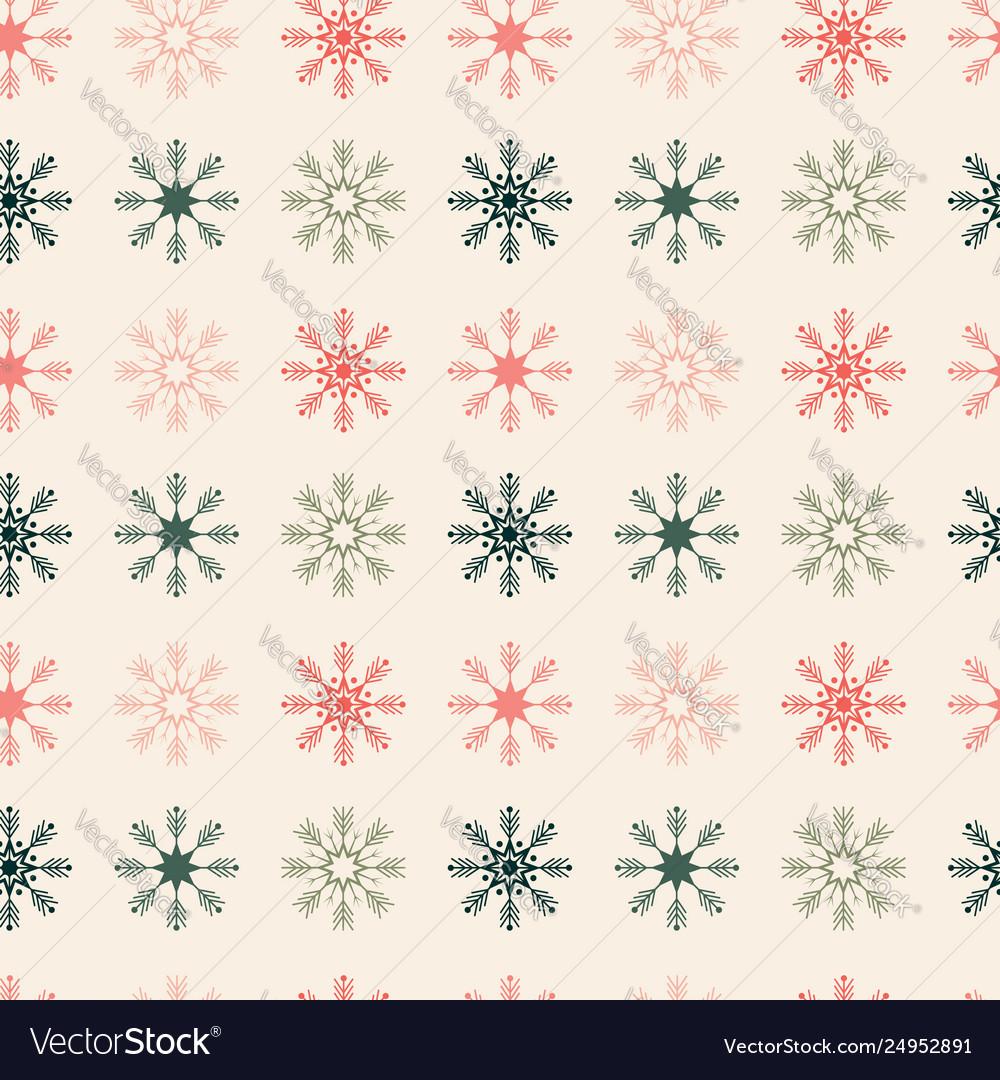 Geometrically located snowflakes seamless