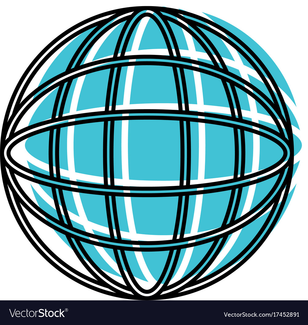 Globe world icon watercolor silhouette with thick vector image publicscrutiny Choice Image