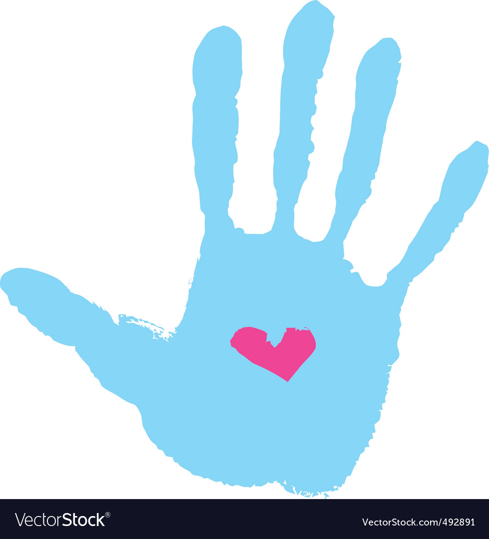 Handprint with heart