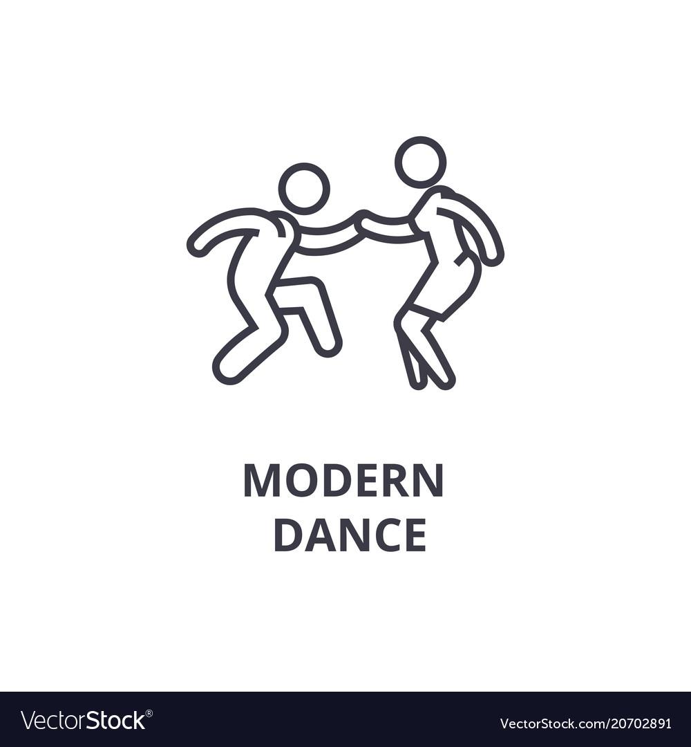 Modern dance thin line icon sign symbol