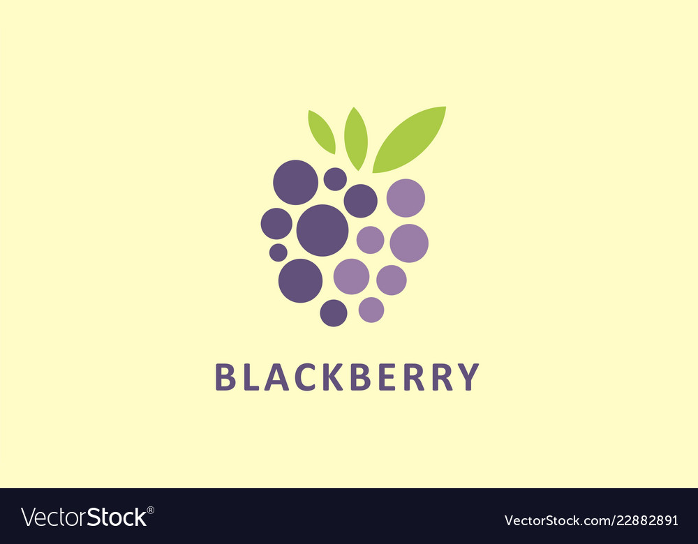 Powerful stylized graphic symbol of berries
