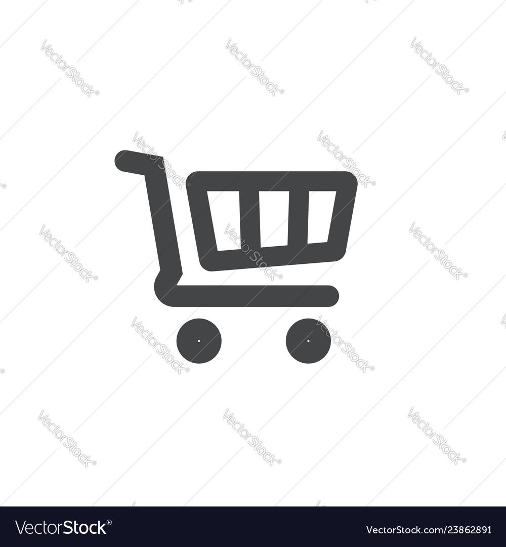 Shopping cart icon symbol line outline art