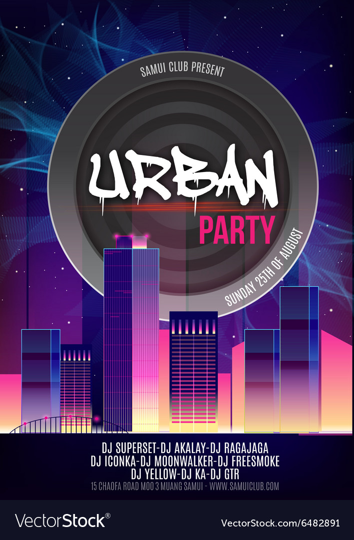Urban Dance Party Poster Background Template