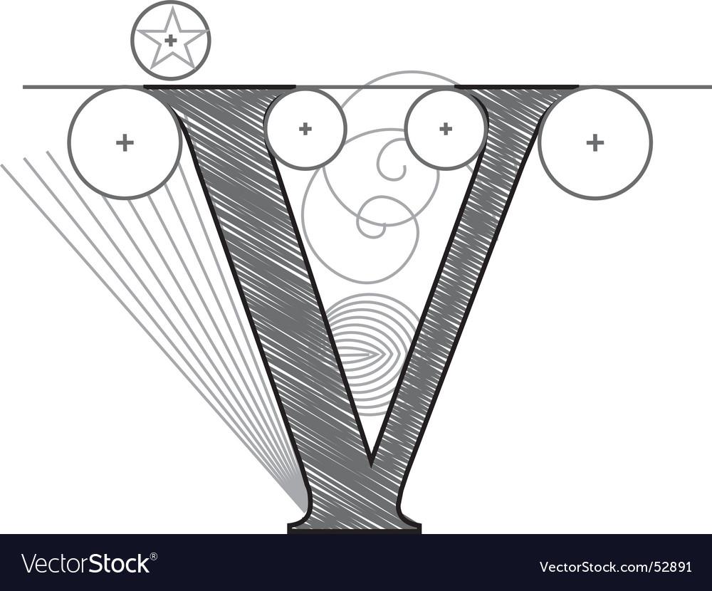 V vector image