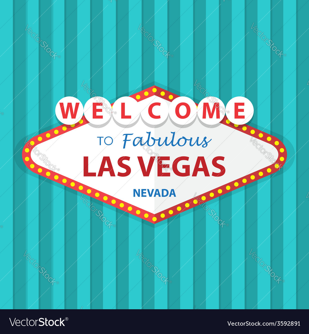 Welcome to fabulous las vegas nevada sign on curta
