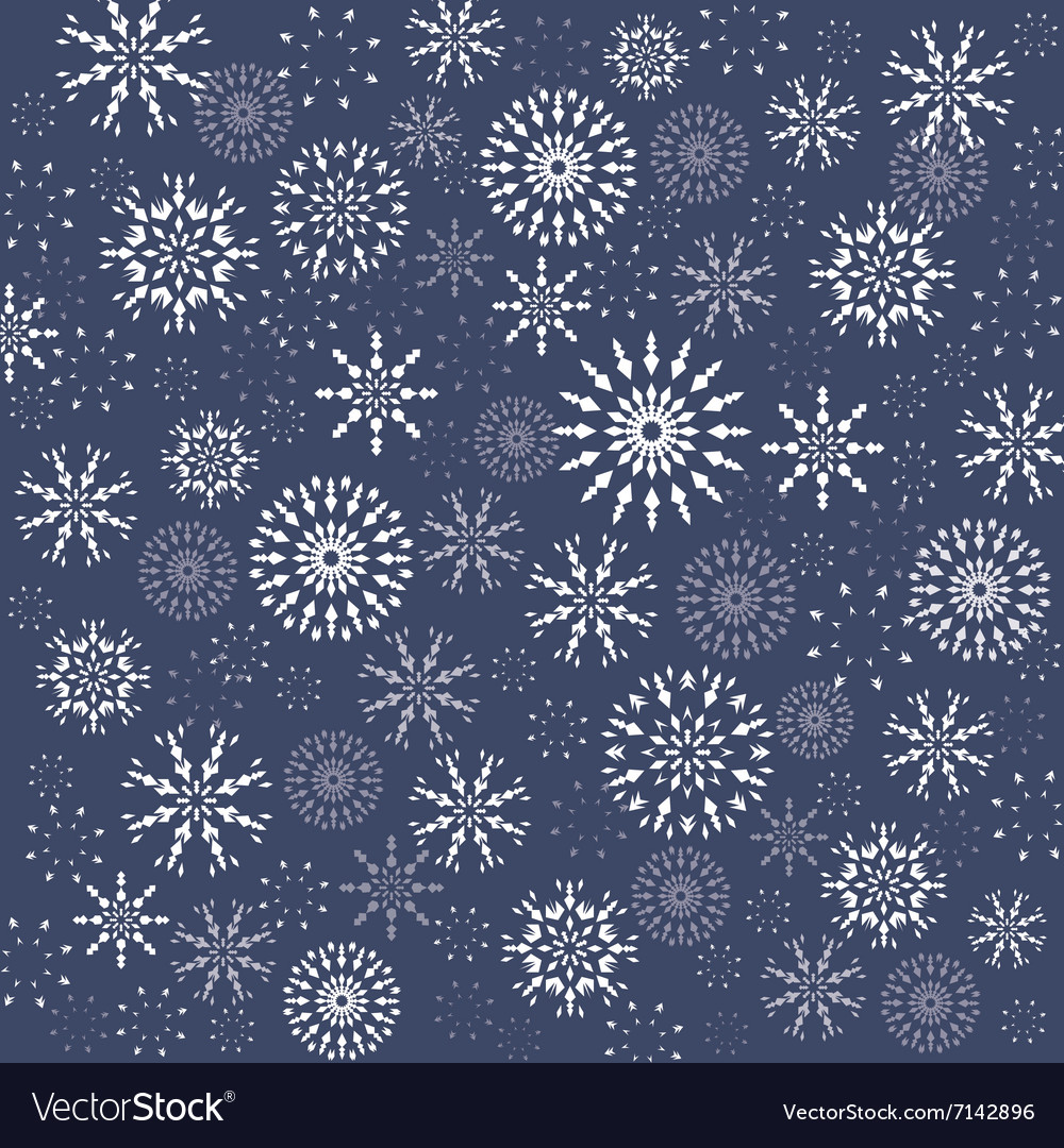 Christmas pattern Winter theme texture Snowflake vector image
